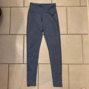 Blue Adidas Leggings XS